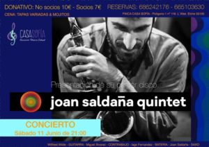 Joan Saldaña quintet Casa Sofía